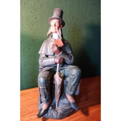 Jules Verne : Phileas Fogg rare pot à tabac