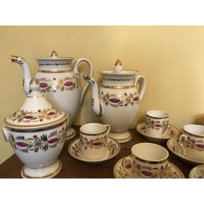 Service à café en porcelaine Empire