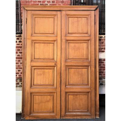 Woodwork Paneling Cimaises Doors XIXth Faux Wood