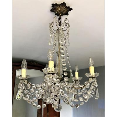Tassel Chandelier With Five Arms Of Light Early Twentieth Century