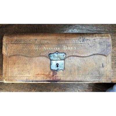 Portefeuille porte-document trieur organisateur mensuel en maroquin XVIIIème