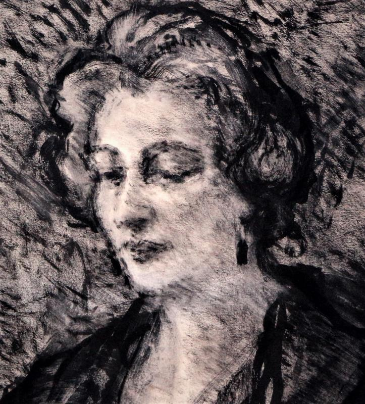 Demeurisse: Woman Sitting Near Window, Ink-photo-3