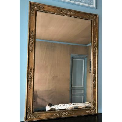 Miroir Restauration bois doré XIXème