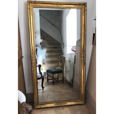 Miroir d'époque Restauration en bois doré