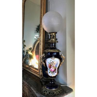Lamp In Paris Porcelain And Bronze XIXth Napoleon III