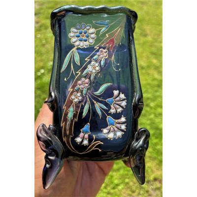 Auguste Jean vase émaillé Art Nouveau