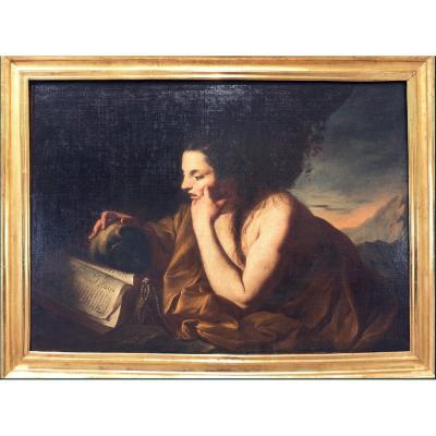 Neapolitan School 1660-1700, La Pénitente Marie Madeleine