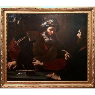 Bartolomeo GENNARI (Attrib.), Jésus et Caiaphas