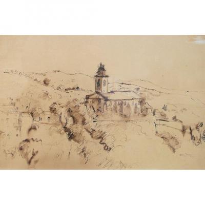 Henri Hayden, Landscape With The Church