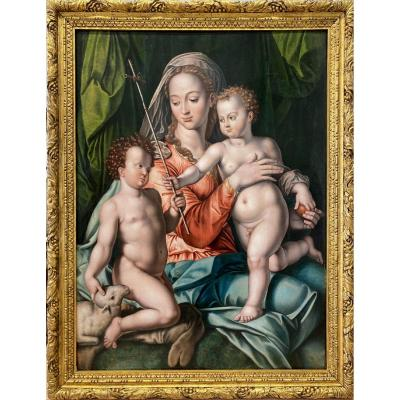 Portelli, The Virgin And Child With Saint John The Baptist