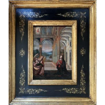 ÉCOLE OMBRIENNE, CIRCA 1520,   ANNONCIATION