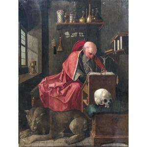 Master Of Adoration Of Lille, Attributed To, Saint Jerome