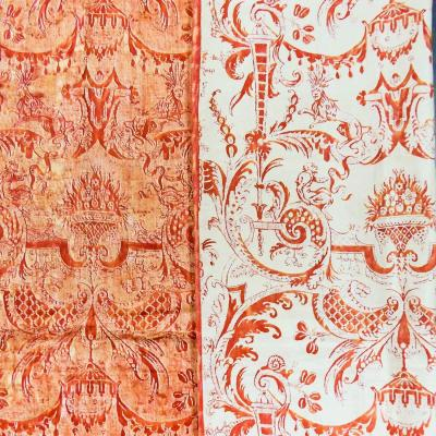 Mariano Fortuny Printed Cotton Print Reversible Circa 1970
