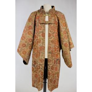 Manteau Jinbaori De Samurai En Lampas Et Laine - Armoirie Tokugawa - Japon Période Edo XIXe S