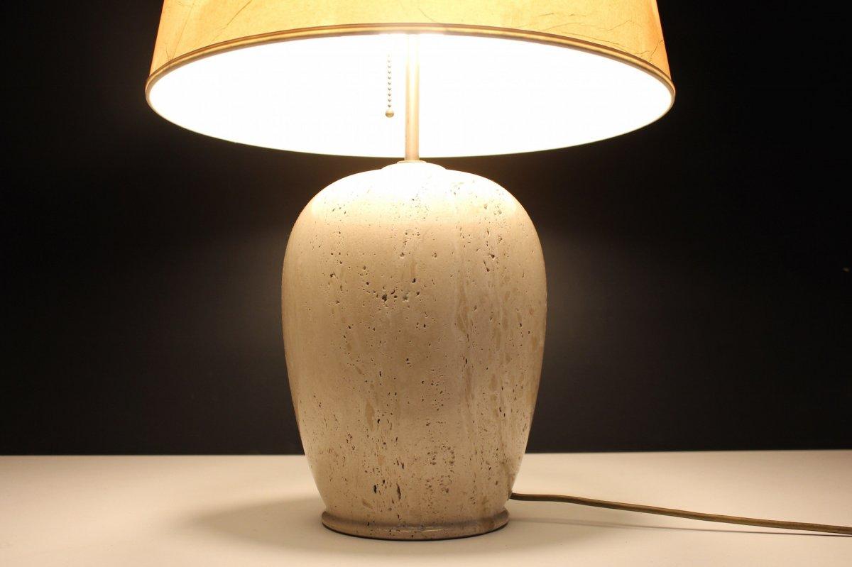 Travertine Lamp, 1970's-photo-5