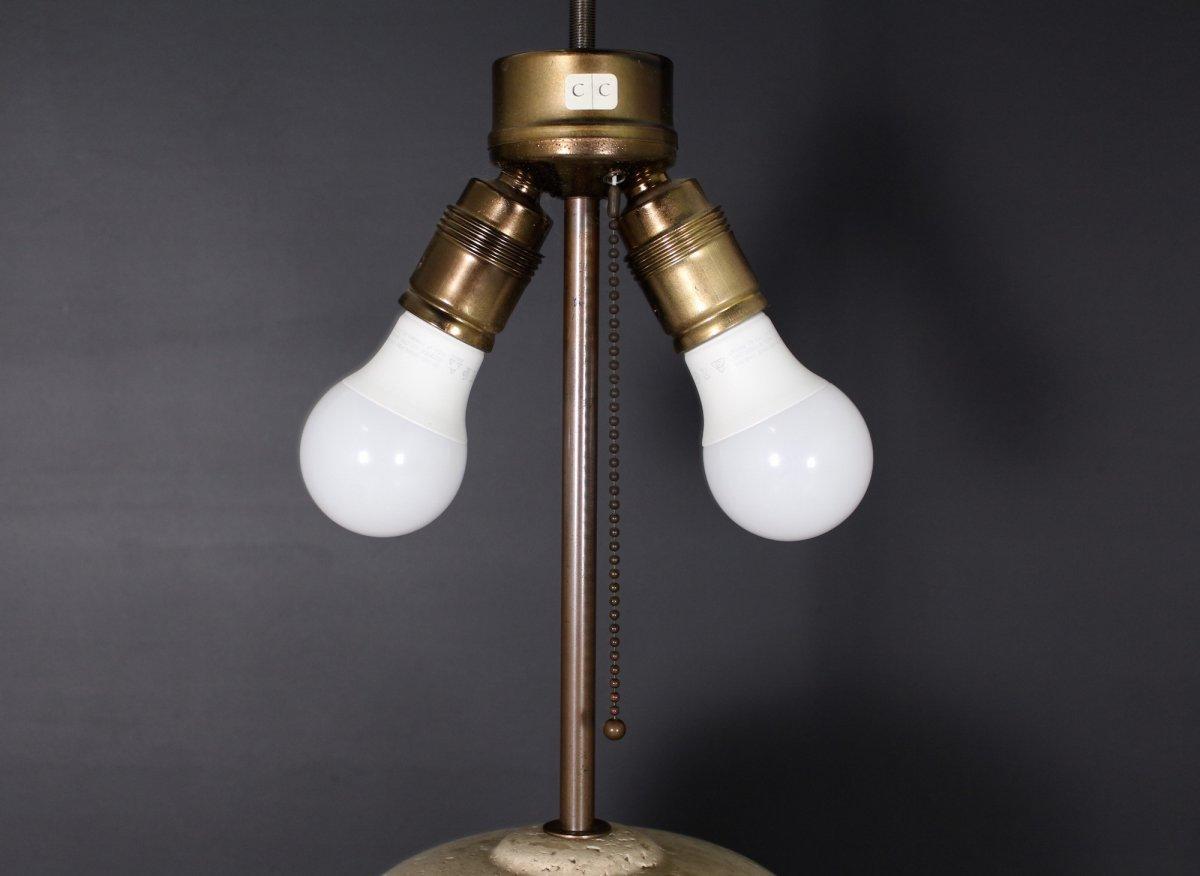 Travertine Lamp, 1970's-photo-7