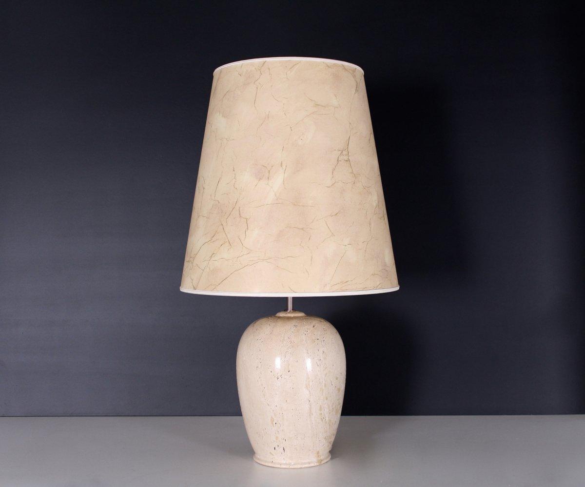 Travertine Lamp, 1970's
