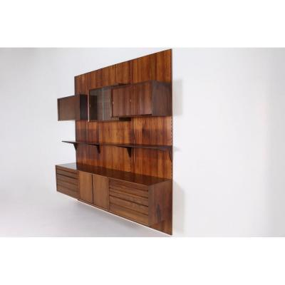 Modular Rosewood Wall Shelf Poul Cadovius