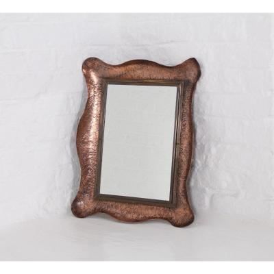 Hammered Copper Mirror.
