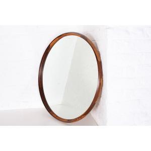 Large Circular Mirror In Rio Rosewood.