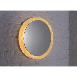 Round Illuminated Plexiglass Mirror.