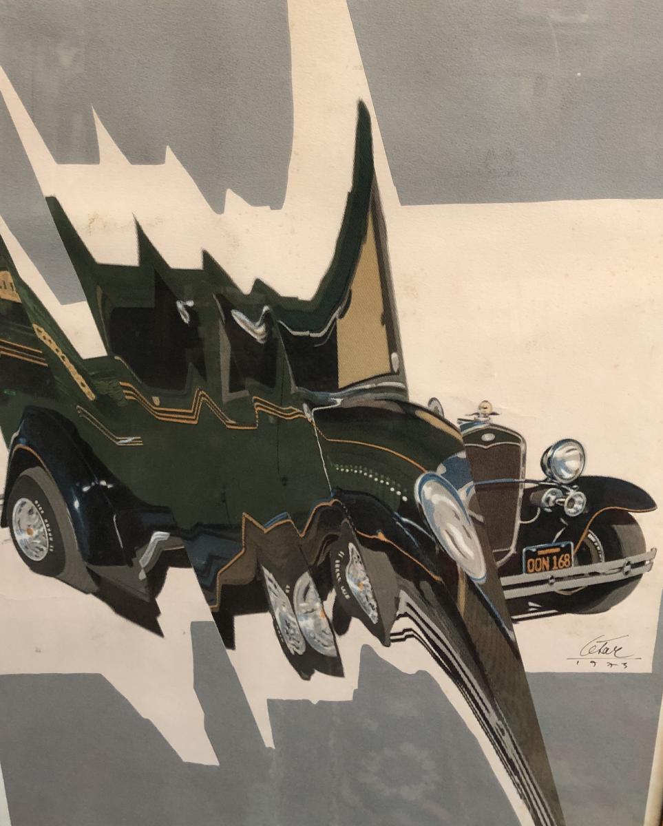 Cesar Compression De Bugatti Lithographie Signée Et Datée 1971 Numéro 23 / 200
