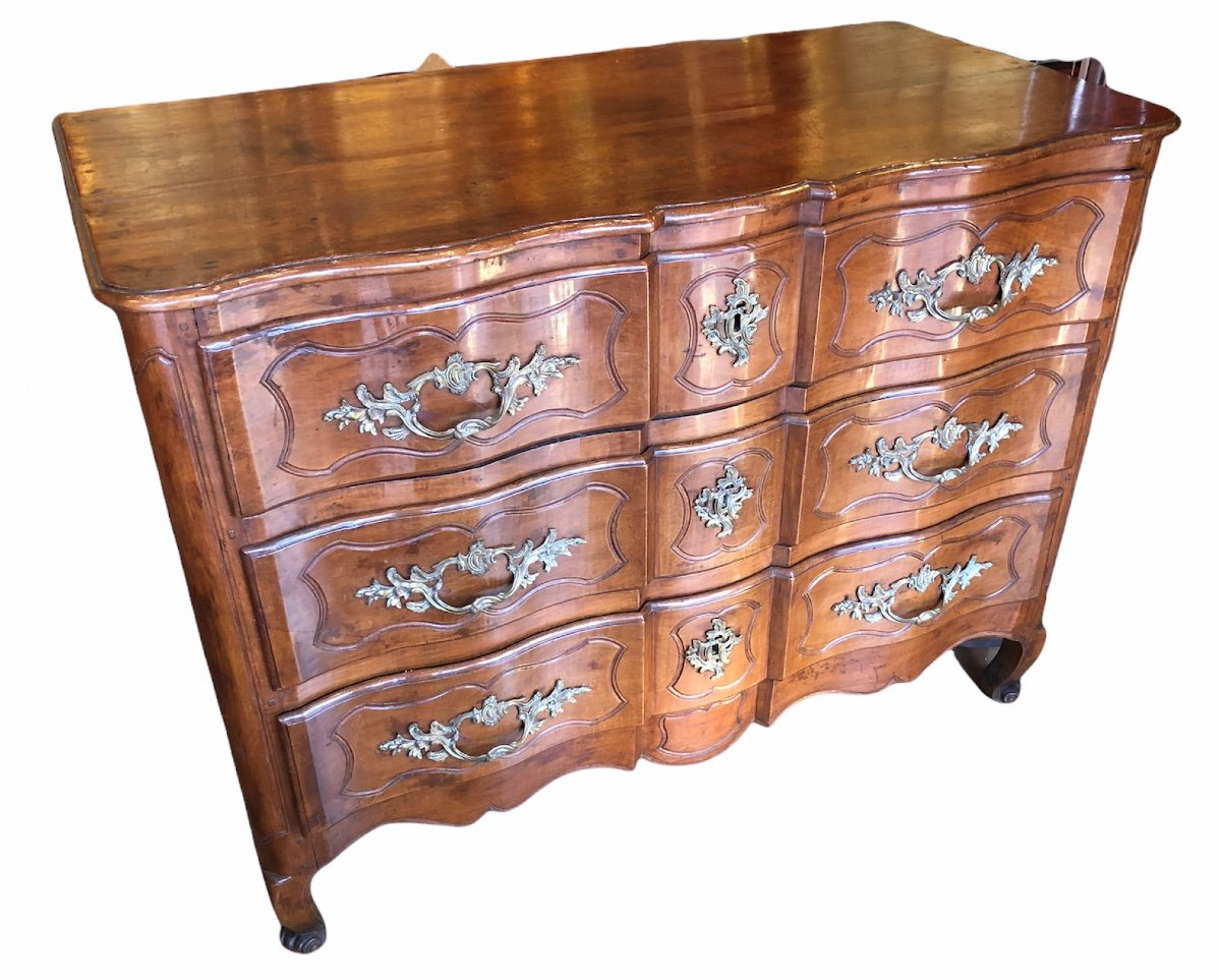 Provencal Arbalette Chest Of Drawers Last XVIIIth Century In Walnut-photo-4