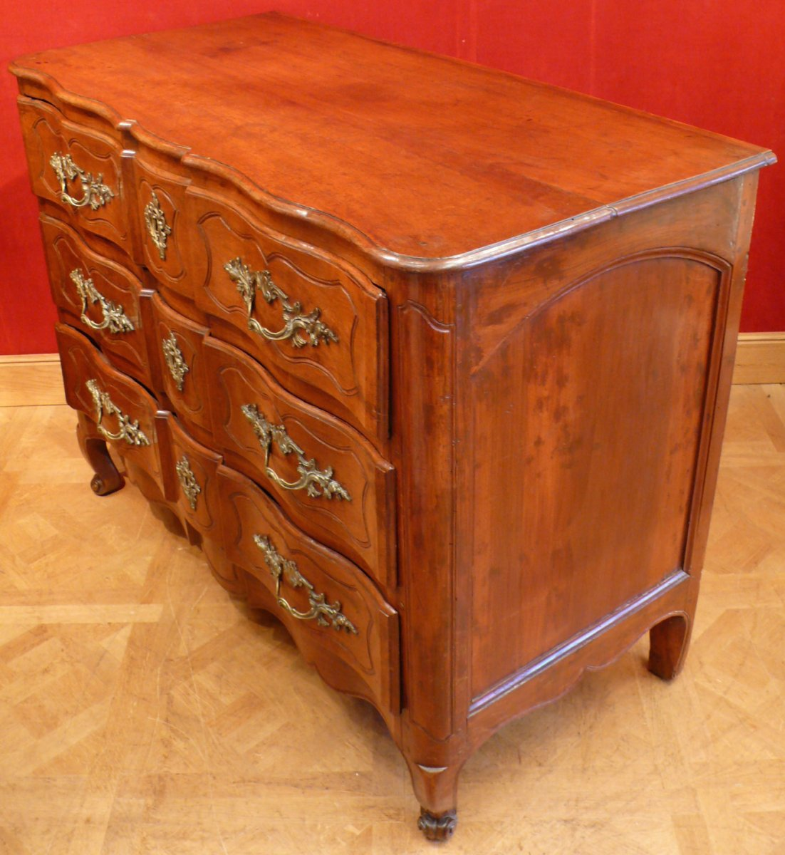 Provencal Arbalette Chest Of Drawers Last XVIIIth Century In Walnut-photo-1