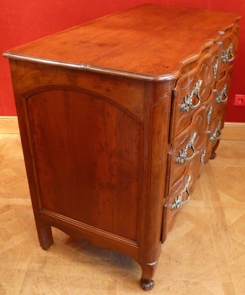 Provencal Arbalette Chest Of Drawers Last XVIIIth Century In Walnut-photo-2