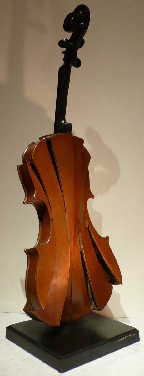 Arman Bronze Sculpture 20th Century Signed Violin Coupé III Modern Art