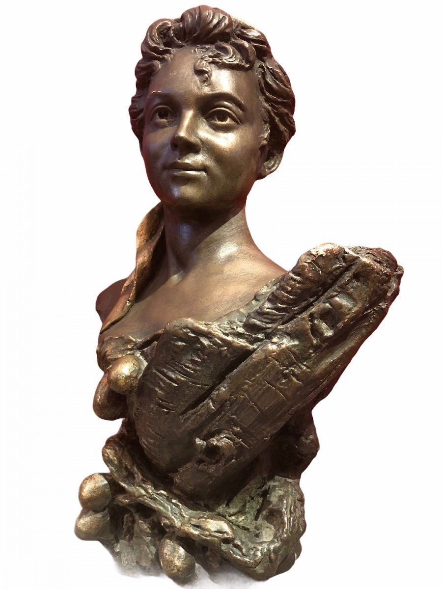 Bust Of Woman By Pierre Campagne Sculpture 19th-photo-2
