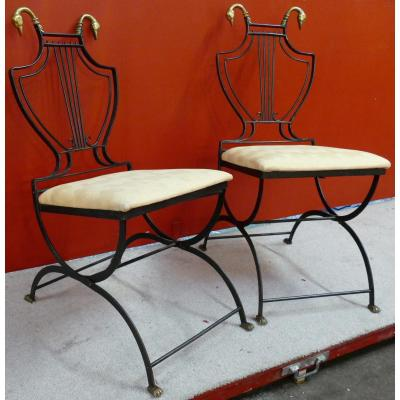 chaise ancienne tabouret ancien sur proantic art d co. Black Bedroom Furniture Sets. Home Design Ideas
