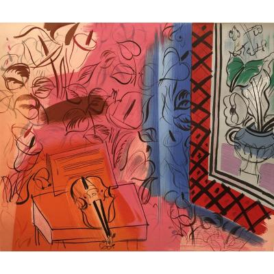 Dufy Raoul Lithographie En Couleurs