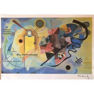 Kandinsky Vassily Amarillo Rojo-Azul 1925