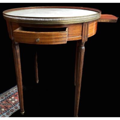 Table Bouillotte En Acajou Fin 18è / Début 19è