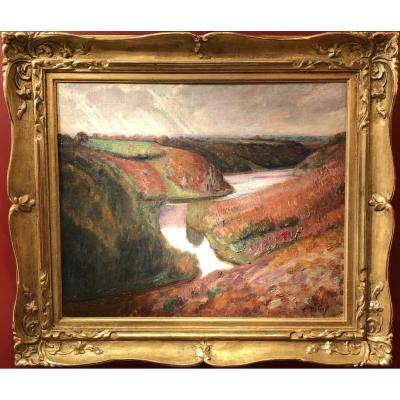 Detroy Léon French School Fauve Painting Early 20th Century Crozant School Oil Canvas Signed