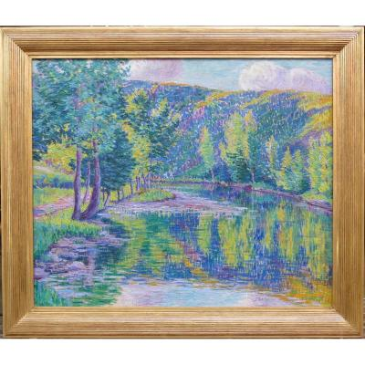 Detroy Léon French School Post-impressionist Painting 20th Century Crozant School Oil Canvas