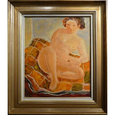 Papart Max The Model In 1951 Oil On Canvas Signed