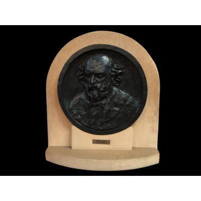 Portrait De Cézanne Par Renoir / Guino Bronze XXème Siècle Double Certificat