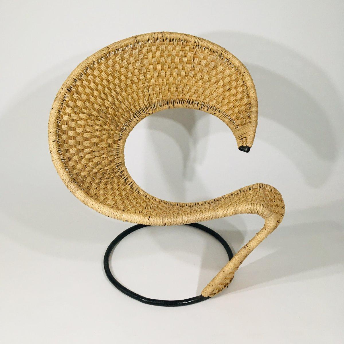 Fauteuil design dans le goût de Tom Dixon