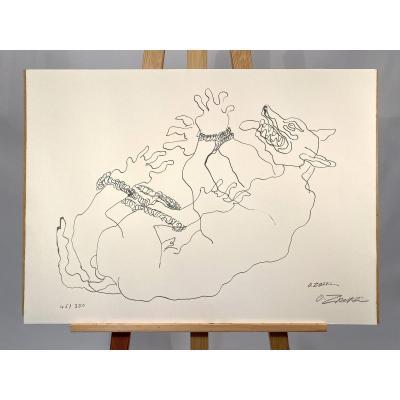Lithographie «sanglier» Ossip Zadkin