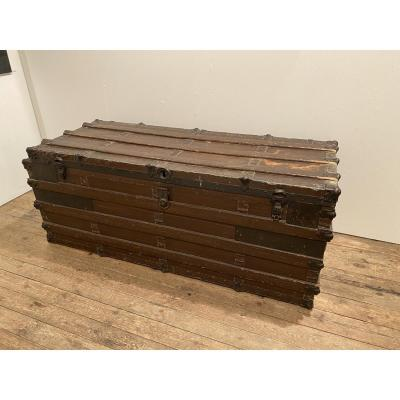 Huge 19th Century Old Trunk