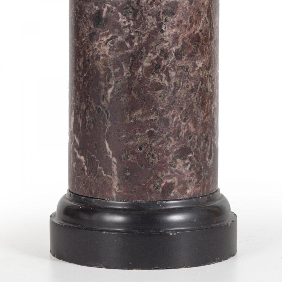 Petit Buste En Bronze De Jules Cesar, XVII Siecle-photo-4