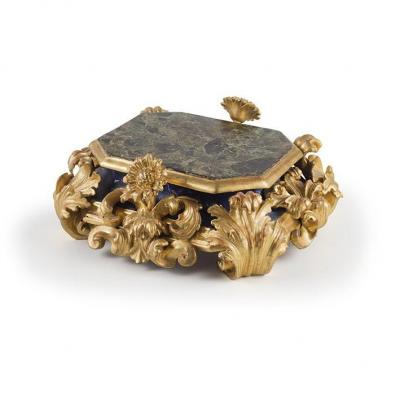 An All Around Base In Carved And Gilded Wood , XVIII Century