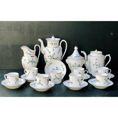 Paris Porcelain Coffee / Tea Service Model Au Barbeau, Empire Period