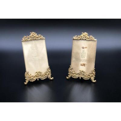 Une Paire De Cadres Photo Style Louis XV