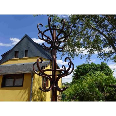 Porte Manteaux  Perroquet Thonet 2 Tetes 16 Pateres Art Nouveau