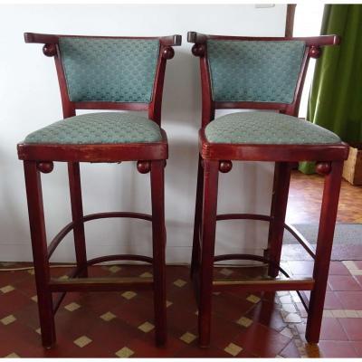 Chaises tabourets de bar Style Hoffmann Art Nouveau Thonet