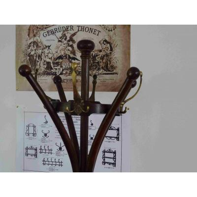 Thonet Coat Rack N ° 10221 Art Nouveau 1900