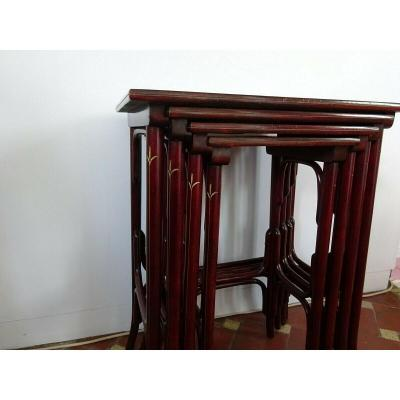 Tables Gigognes Thonet Art Nouveau